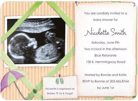 Baby Shower Invites With Photo by Tiny Prints Baby Sonogram Invites Omg Photos
