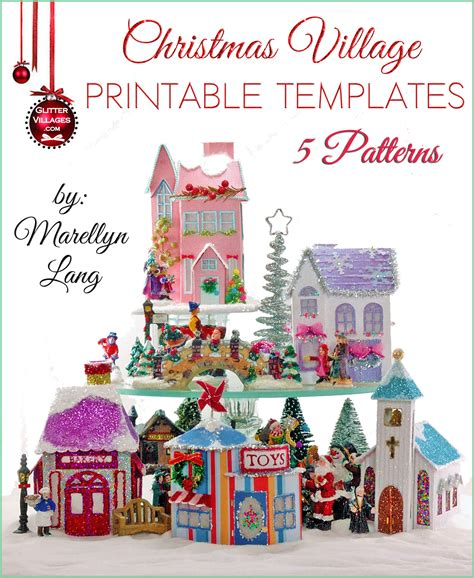 printable christmas houses 5 christmas village house templates to print diy with