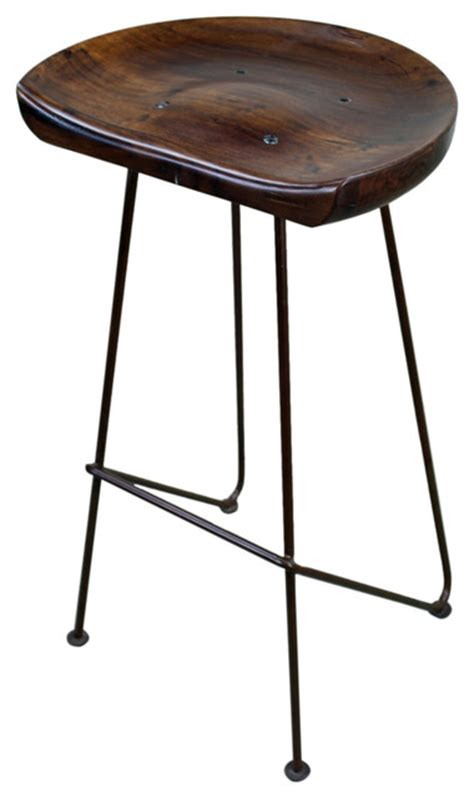 Iron Bar Stools Rustic by Hardwood And Iron Rustic Bar Stool Rustic Bar Stools