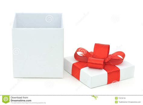 Gift Opening - open gift box stock photo image of object