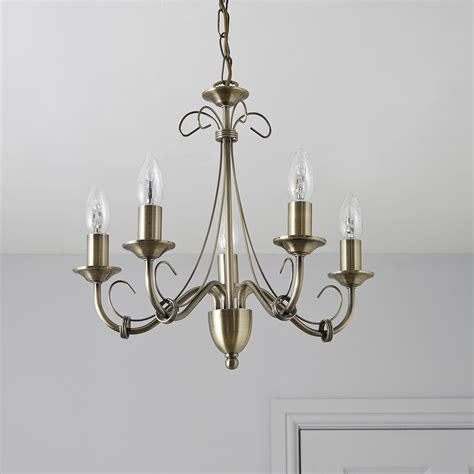 B Q Chandelier Priory Gold 5 L Pendant Ceiling Light Departments Diy At B Q