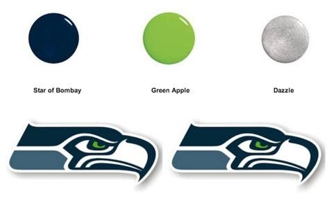 seahawks color seattle seahawk fans the nail combo for