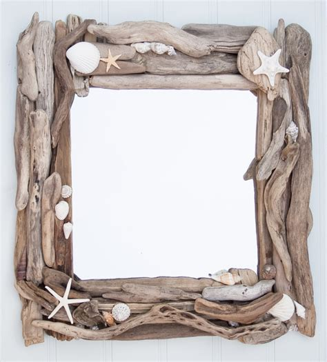 driftwood and sea shell mirror driftwood dreaming - Treibholz Spiegel