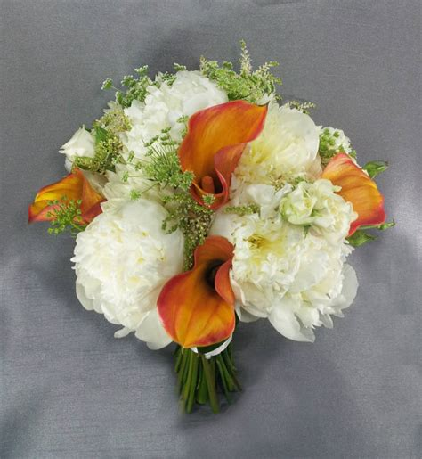 peonies and orange blossoms designing and coral wedding bouquets dahlia floral design