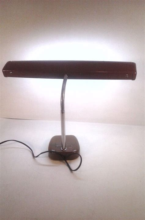 antique gooseneck desk l 19 quot vintage gooseneck desk lamp metal brown 1950 s style