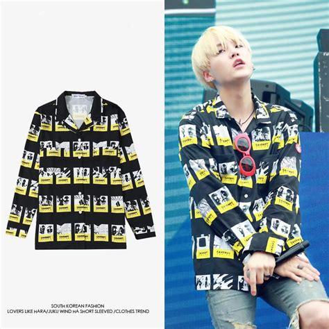 Mv Dress Hoodie W bts suga mv button up shirt idols fashion