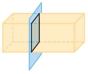 right section of a prism cross sections of a right rectangular prism