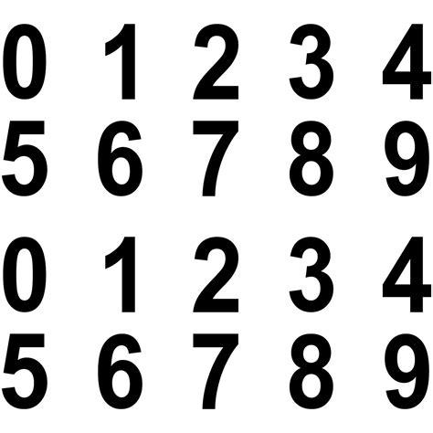 Aufkleber Zahlen 1 100 by 100 Ziffern Aufkleber 2cm Schwarz Zahlen Zimmer Nummern