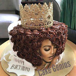 Afro Diblack Beauty Edible Cake Image Dicake Afro