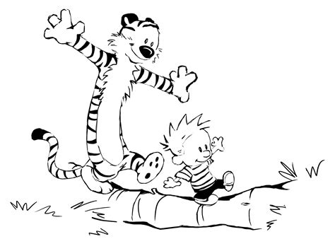 free coloring pages of calvin and hobbes comics