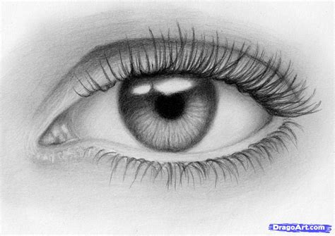 how to draw a eye how to