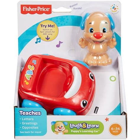 Fisher Price Laugh Learn Puppys Learning Car X2139 fisher price laugh learn puppy s learning car walmart