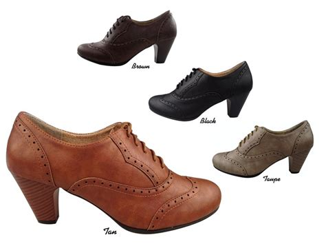 new vintage oxford faux leather retro lace up