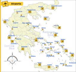 airports in map greece transportation maps