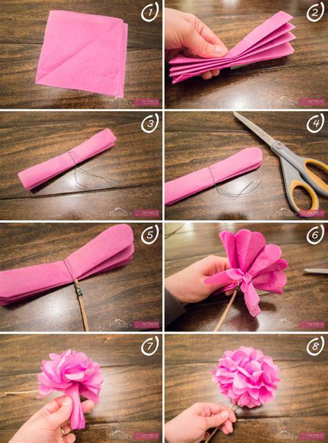 flores en papel seda paso a paso 2 diy para hacer flores con papel diariodeco