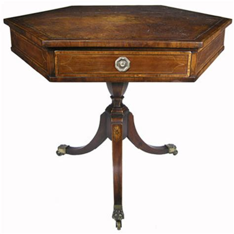 small regency period drum table for sale