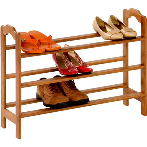 shoe rack walmart honey can do 3 tier bamboo shoe rack walmart