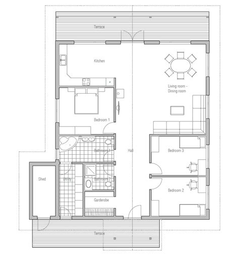 Cheap Floor Plans by Affordable Home Plans Affordable Home Plan Ch4