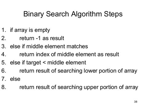 Base For A Recursive Binary Search Algorithm Recursion