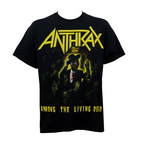 anthrax among the living dead anthrax t shirt