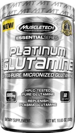 essential series platinum 100% glutamine by muscletech at