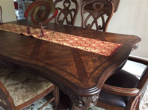 Dining Room Table With Fabric Chairs Dining Room Table Leather Side Chairs And 4 Fabric Chairs