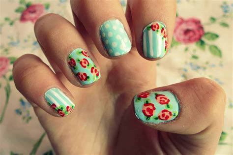 nail art tutorial wikihow green summer dots flower nail art design tutorial best