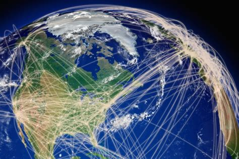 network attack map new model calculates how air transport connects the world mit news