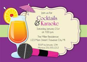 karaoke invitation cocktails karaoke invite for