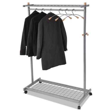 Shelf Coat Rack by Garment Racks Two Sided 2 Shelf Coat Rack 6 Hanger 6