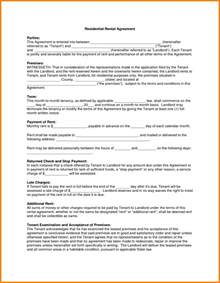 Agreement Letter For Boyfriend 5 Downloadable Residential Lease Agreement Ledger Paper