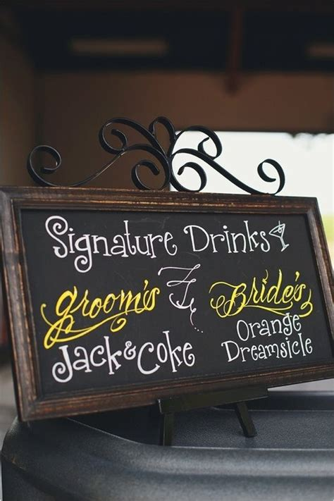 groom and bride signature drinks getting hitched