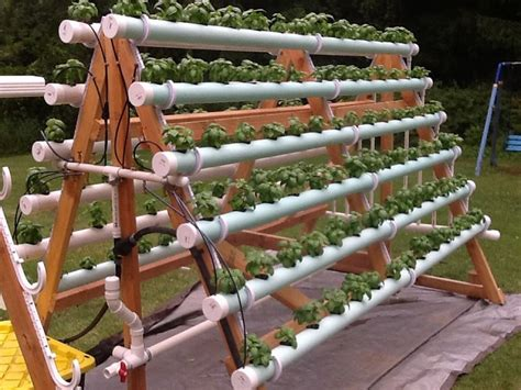 Diy Vertical Hydroponic Garden How To Grow 168 Plants In A 6 X 10 Space With A Diy A