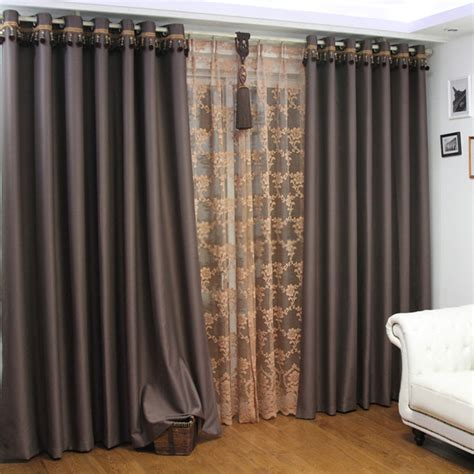 long curtain tracks extra long drop curtains for blackout lights in coffee color