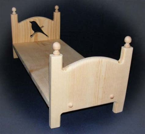 Handmade 18 Inch Doll Furniture - handmade wooden stackable single bird doll bed 18 inch