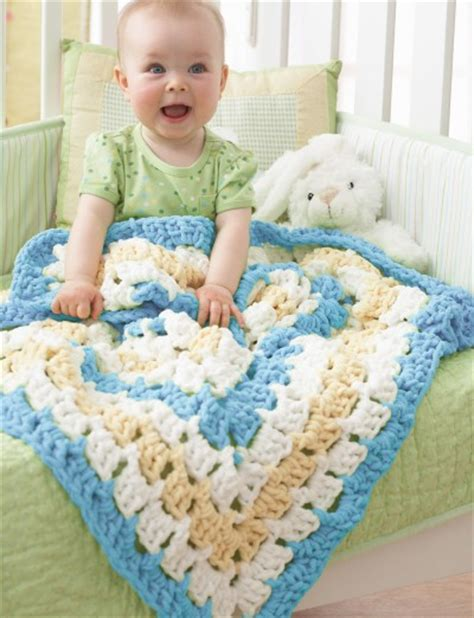 Free Square Baby Blanket Pattern by Bernat From The Middle Baby Blanket Crochet Pattern