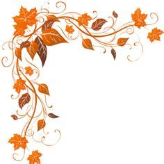 flourish with leaves corner border design silhouette
