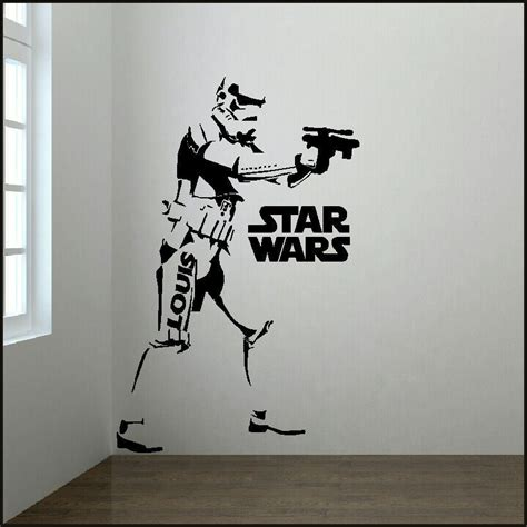 wars wall sticker large personalised 6ft trooper wars starwars wall sticker with logo bespoke graphics