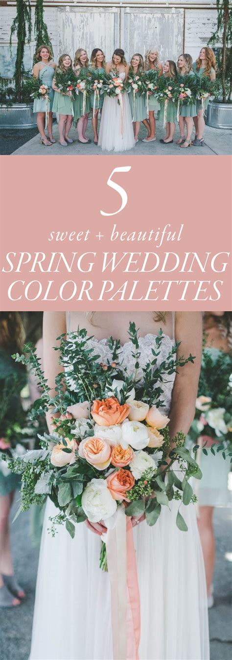 wedding color palettes 5 sweet wedding color palette ideas weddings