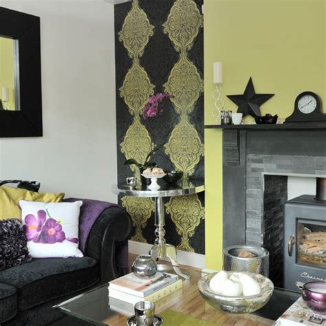 black and green living room lime green and black patterned living room housetohome co uk