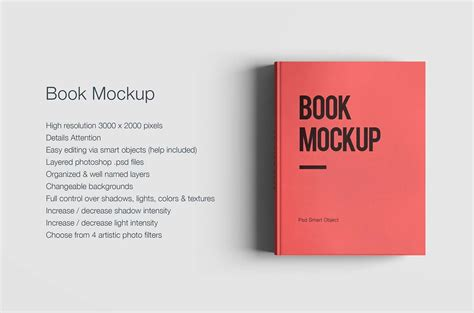 Free Book Mockup PSD   Creative Specks