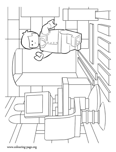emmet lego coloring page free coloring pages of emmet lego