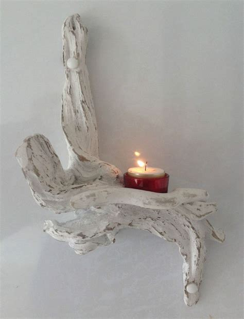 Driftwood Wall Sconce Driftwood Sconce Candle Holder Crafts Sculpture