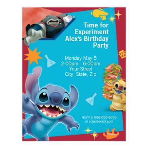 Personalized Lilo And Stitch Invitations Custominvitations4u Com Free Lilo And Stitch Invitation Template
