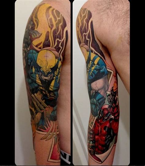 batman wolverine tattoo 25 b 228 sta wolverine tattoo id 233 erna p 229 pinterest batman
