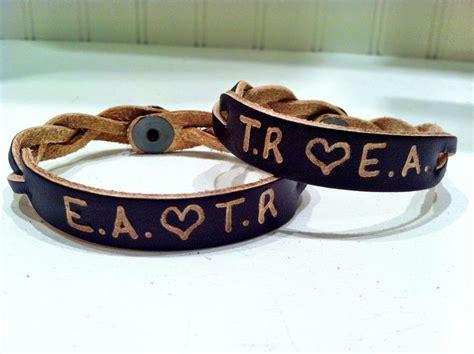 initial bracelets personalized leather bracelets