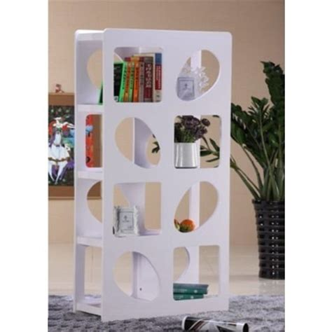 white contemporary bookcase 4 shelf contemporary bookcase in high gloss white buy