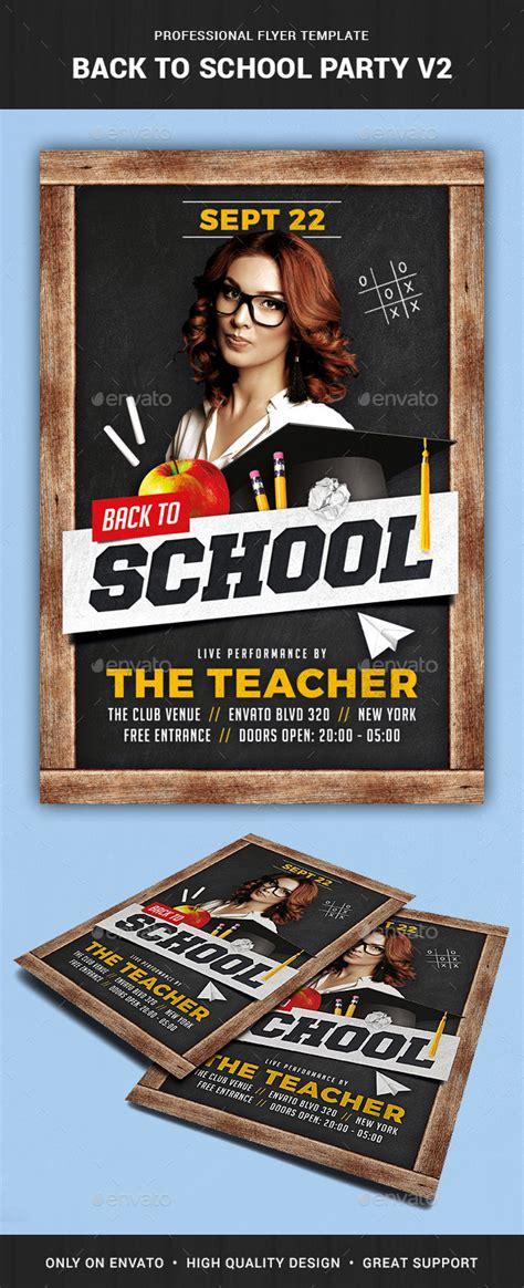 Back To School Flyer Template V2 By Liveatthebbq Graphicriver Flyer Template V2
