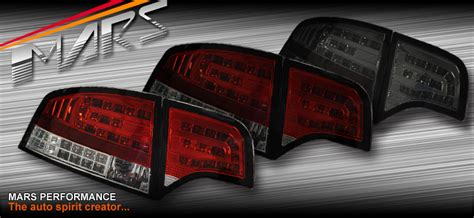audi b7 tail lights audi a4 s4 rs4 s line b7 05 08 sedan smoked red led tail