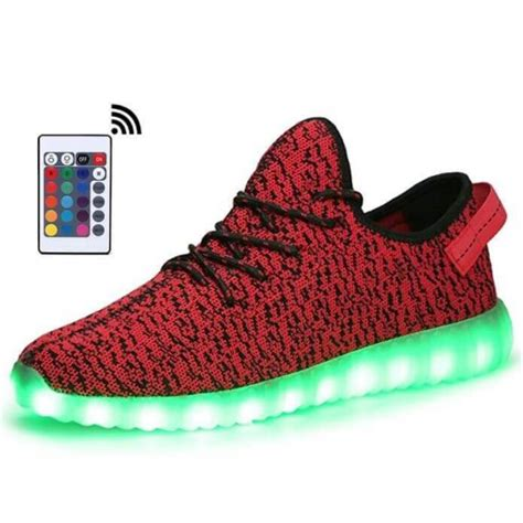 remote control light up shoes led light up trainers men red remote